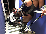 Black shemale domme punishing her date