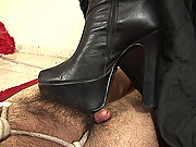 Fetish shemale foot worship by her slaves