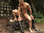 Slave captured and punished outdoors